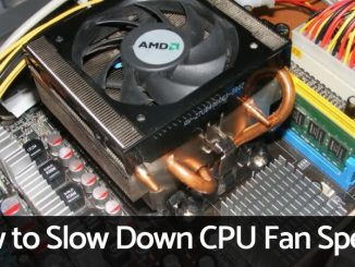How to Slow Down CPU Fan Speed