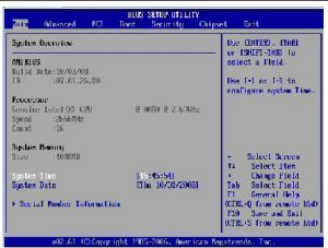 Underclocking CPU from the BIOS settings